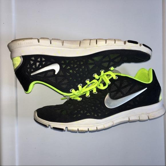 Women's Nike Free Black & Neon Green Sneaker